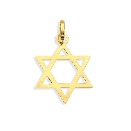 Davidstern Anhänger aus echt 14 Karat Gold 585 (Art.212067) Viennagold