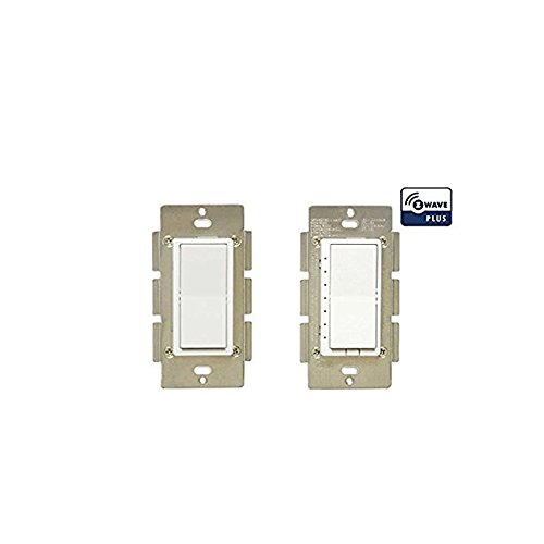 ZWP Z-Wave Plus In Wall Smart Light Dimmer Switch with Instant Status Repeater - Compatible with Alexa (Dimmer Z-Wave Plus 3-Way)