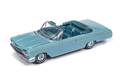 Auto World 1962 Chevy Impala Convertible, Light Blue AW64192/48B - 1/64 Scale Diecast Model Toy Car