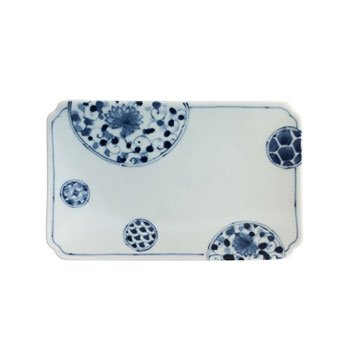 Porcelain Rectangular Plate - Hana Imari