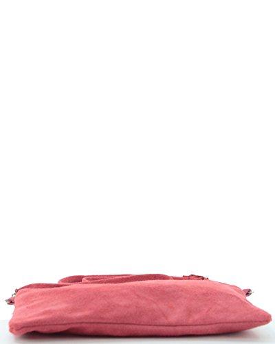 histoireDaccessoires - Clutch de Cuero de Mujer - PO129721V-OE-Helios Coral