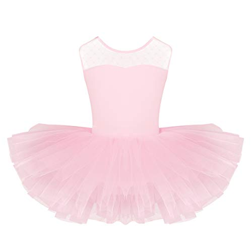 YiZYiF Baby Girl's Ballet Outfits Leotard Tutu Dancewear Party Dress (7-8(Shoulder to Crotch 20.5