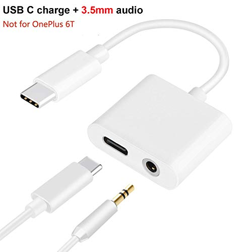 USB C to 3.5mm, Aproo 2-in-1 USB C Headphone Adapter with Fast Charge Compatible for Pixel 2/2XL/3/3XL, iPad Pro 2018, HTC, Essential Phone and More
