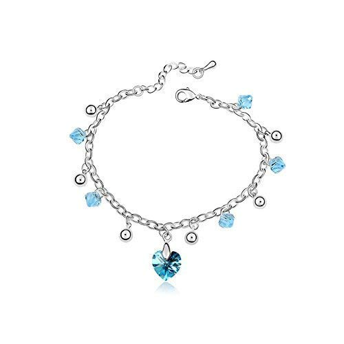 Women Elegant Leng Elegant Pretty Bracelet High-end Extravagance Luxury Elegant Jewelry Crystal Bracelet - Starry Sky(Aquamarine)