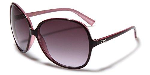 Oversized Frame Women's Round Butterfly Shape - Women Sunglasses Dg