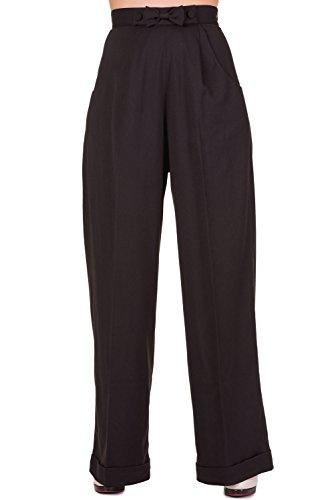 Dancing Days Hidden Away High Waist Retro 40s 50s Office Formal Pants Wide Trousers