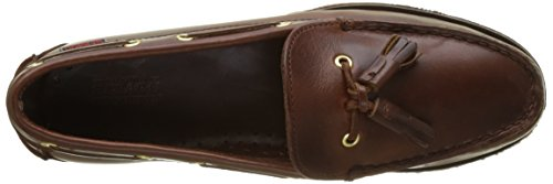 Sebago Femme Brown Marron Mocassins Waxy Oiled Caspian Marron Lea CrwECaq
