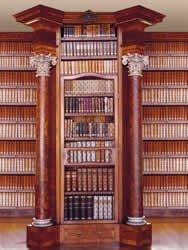Bücherregal antik  Fototapete Motivtapete Bildtapete Library Bibliothek Bücherregal ...