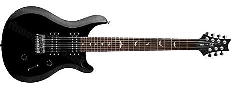 PRS cm7bl solid-body se Custom 24 (7 cuerdas Guitarra eléctrica, Negro