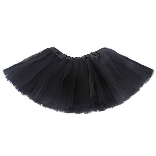 belababy Black Skirt Baby Girls 5 Layers Tulle Tutu, 0-24 Months -