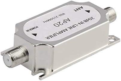 iUcar Amplificador en línea del satélite 20dB 950-2150MHZ Amplificador de señal para la Antena