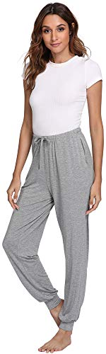 GYS Women's Bamboo Viscose Lounge Jogger Pants, Heather for sale  Delivered anywhere in USA