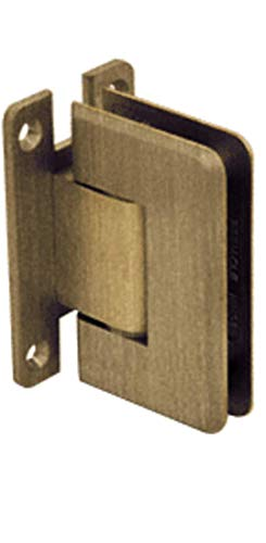 (C.R. LAURENCE C0L337ABR CRL Antique Brass Cologne 337 Series Adjustable Wall Mount Full Back Plate H)