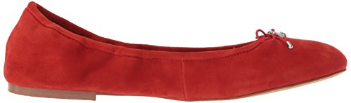Sam Edelman Womens Felicia Ballet Flat Candy Red Suede 2JoD4vC