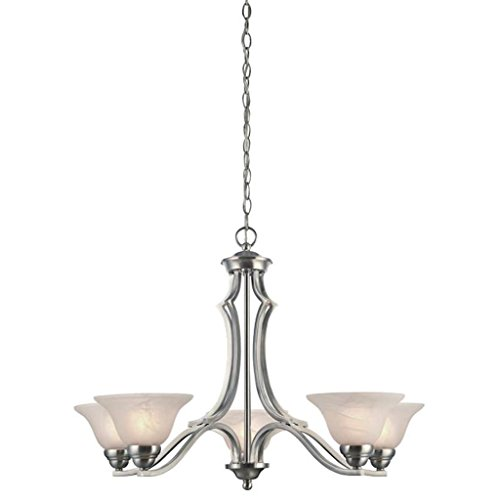 Westinghouse Satin Chandelier - Westinghouse 62286 - 5 Light (Medium Screw Base) 30.5