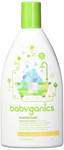 Babyganics Baby Bubble Bath, Chamomile Verbena, 20oz Bottle, (Pack of 2)