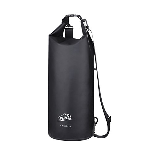 HiHiLL Waterproof Dry Bag, PVC Gear Dry with Earphone Interface, Detachable Shoulder Straps for Kayaking, Beach, Boating, Hiking, Fishing Outdoors with Waterproof Phone Case by HiHiLL