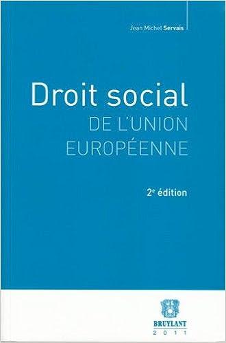 En ligne téléchargement gratuit Droit social de l'Union européenne pdf ebook