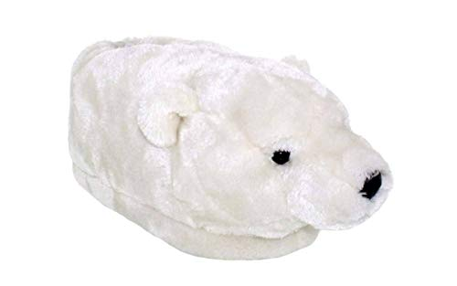 9094-4 - Polar Bear - X Large - Happy Feet Kids and Adult Animal Slippers
