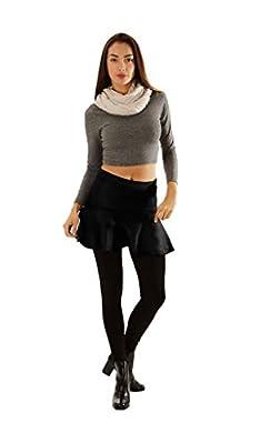 Dinamit Women Elastic Waist Flared Skater Skirt