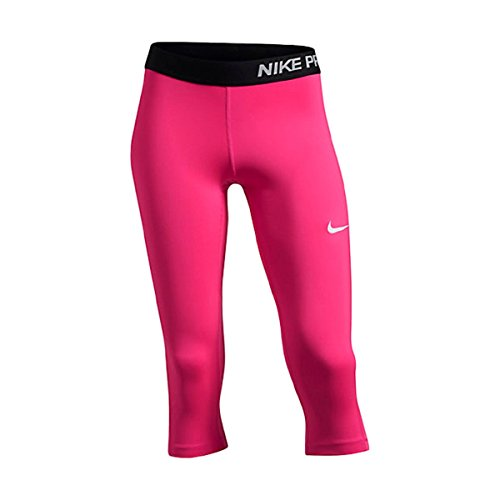 Nike Pro Cool Training Capris Hot Pink / Black Base Layer Large (14)