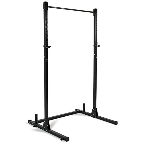 Akonza Barbell Power Rack Exercise Free Stand Bench Presses Squats Shrugs Resistant Bands -Black by Akonza