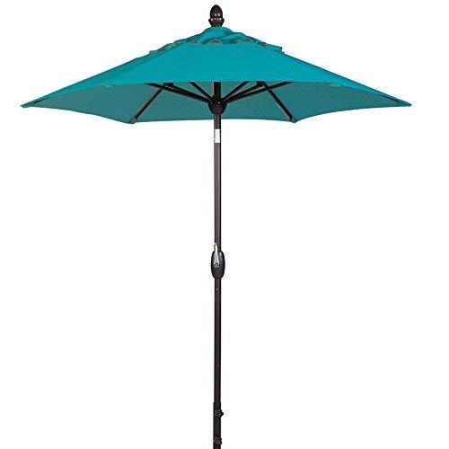 SORARA Patio Umbrella Outdoor Market Table Umbrella with Push Button Tilt&Crank&Umbrella Cover, 7-1/2 Feet, Blue