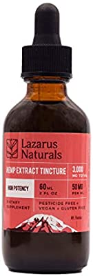 Lazarus Naturals Hemp Seed Oil & Hemp Extract - for Pain Relief and  Anti-Anxiety Support - All-Natural Ingredients - Promotes Relaxation &  General