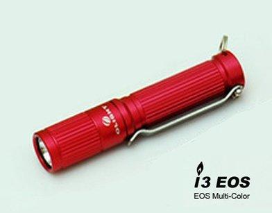 Olight I3 CREE XP-G R5 LED Keychain Light -Red- 1x AAA