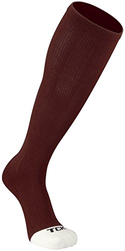 TCK Prosport Performance Tube Socks (Maroon, (Maroon Softball Shoes)