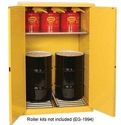 Vertical Drum Storage Cabinet - Eagle HAZ9010 Drum Storage Safety Cabinet, Self-Closing, Vertical Drum, 2 Door, 43