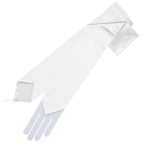 ZaZa Bridal Stretch Satin Fingerless Gloves Opera Length (Length Stretch Satin Gloves)