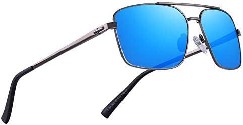 OLIEYE Men's Driving Polarized Sunglasses Metal Frame UV400