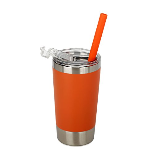 Housavvy Kids Tumbler Double-Walled Stainless Steel 12 oz, Orange by Housavvy
