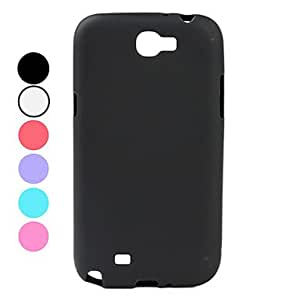 Simple Style Soft TPU Case for Samsung Galaxy Note 2 N7100 (Assorted Colors) --- COLOR:Red