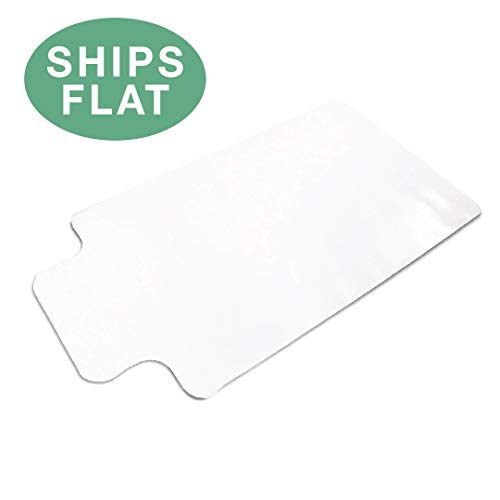 Office Chair Mat with Lip for Hard Floors 48 x 36 - Clear Hardwood Mat for Desk Chairs - Ships Flat by Ilyapa (Image #7)