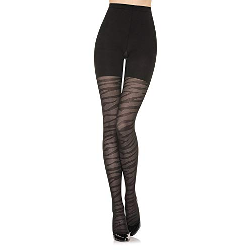 (Spanx Star Power Center Stage Tiger Patterned Shaping Tights - Trendy Leggings (D))