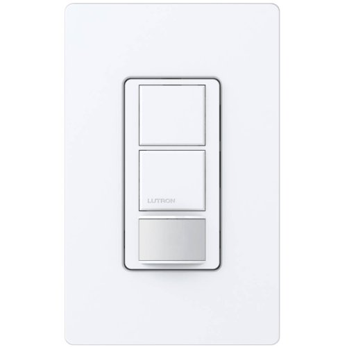 Lutron MS-OPS6-DDV-WH Maestro 6-Amp Single Pole Dual Circuit Occupancy Sensing Switch, White - Motion Activated Wall Switches - Amazon.com