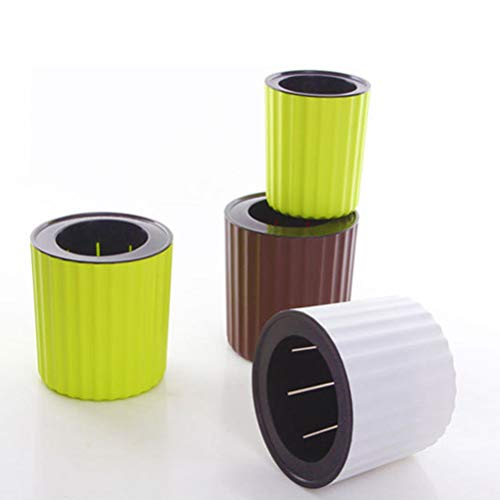Foolproof Non-Toxic Plastic Self-Watering Flower Pot for Indoor Decoration
