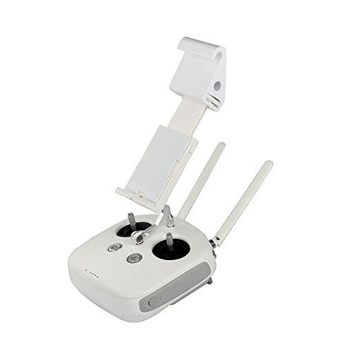 i.VALUX Elastic Remote Controller Bracket FVP Monitor Holder + Plastic Extended Mount for DJI Phantom 3 / 4, Inspire 1, FS-I6S Remote (Fs One Controller)