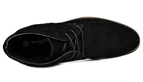 Mens Bruno In Pelle Scamosciata Urbana Lace Up Oxfords Desert Boots 1-nero