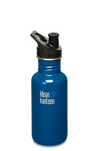 Klean Kanteen Stainless Steel Bottle with 3.0 Sport Cap,18-Ounce,Blue Planet (18 Ounce Sports Bottle)