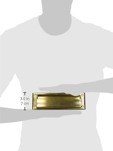 Home Improvement Deltana MS626U5 8 7//8-Inch Mail Slot with Solid Brass Interior Frame Top Notch Distributors Inc.