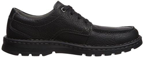Clarks Herren Sneaker Black Oily Leather
