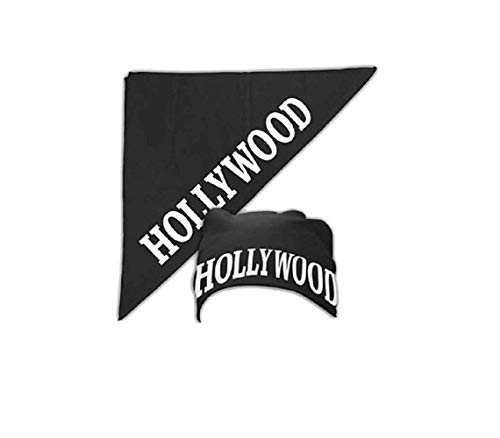 Halloween Costume Accessory Hollywood Black Bandana ()