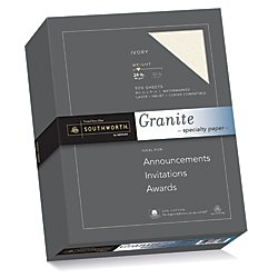 Recycled Ivory Paper (Southworth Granite Specilalty Paper, 8.5 x 11 inches,24 lb, Ivory, 500 Sheets per Box (934C))