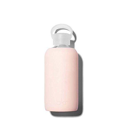 bkr Tutu Glass Water Bottle with Smooth Silicone Sleeve for Travel, Narrow Mouth, BPA-Free & Dishwasher Safe, Opaque Ballet Pale Peachy Pink, 16 oz / 500 mL by bkr (Image #2)