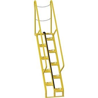 Vestil Alternating Tread Stairs   10 Steps, 56deg Step Angle, Model# ATS