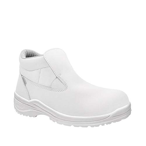 NEW MENS WHITE STEEL TOE CAP SAFETY WORK HYGIENE FOOD MEDICAL SHOES BOOTS SIZE