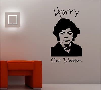 Online Design Harry Styles One Direction Pared Pegatina Vinilo Lounge Música Dormitorio Girls - Azul